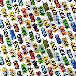 Prextex 50 Pc Die Cast Toy Cars Party Favors Easter Eggs Filler or Cake Toppers Stocking Stuffers Cars Toys for Kids