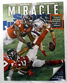 Julian Edelman New England Patriots Signed THE CATCH SI Cover 16x20 Photo JSA