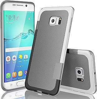 TILL Galaxy S6 Edge Case, (TM) Ultra Slim 3 Color Hybrid Impact Anti-Slip Shockproof Soft TPU Hard PC Bumper Extra Front Raised Lip Case Cover for Samsung Galaxy S6 Edge S VI Edge G925 [Light Gray]