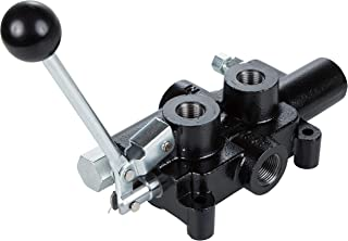 RuggedMade 25 GPM Hydraulic Log Splitter Directional Control Valve, Auto Return Detent Lever Handle, 2750 PSI (1/2