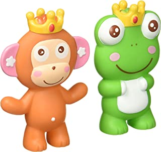 Little Treasures Teether Toy 3-in-1 Squeeze, Whistle, Bath Toy Includes 2 Individual Toy Characters