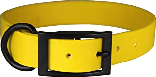 "OmniPet Zeta Regular Dog Collar with Black Metal Hardware, 3/4"" x 28"", Yellow"