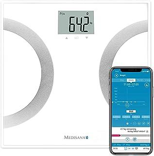 medisana BS 445 connect, digitale weegschaal voor lichaamsanalyse 180 kg, personenweegschaal voor het meten van lichaamsve...