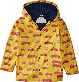 Vintage Fire Trucks Raincoat (Toddler/Little Kids/Big Kids)