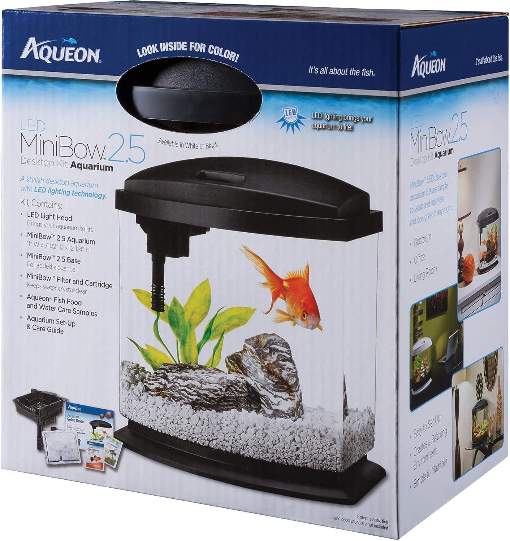 Aqueon LED Minibow Desktop Aquarium Kit  2.5 Gallon  Black