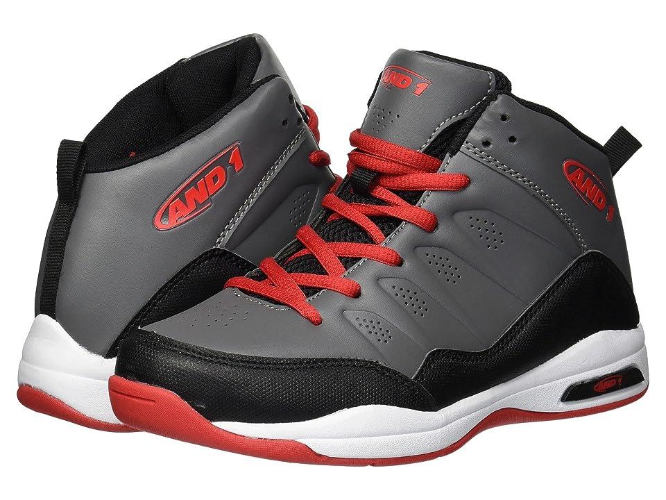 AND1 Kids Breakout (Little Kid/Big Kid) (Castle Rock/Black/Fiery Red) Boys Shoes