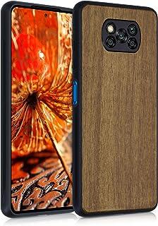 kwmobile 対応: Xiaomi Poco X3 NFC/Poco X3 Pro 木製ケース - 木製 携帯ケース TPUバンパー - ナチュラル ウッド スタイル