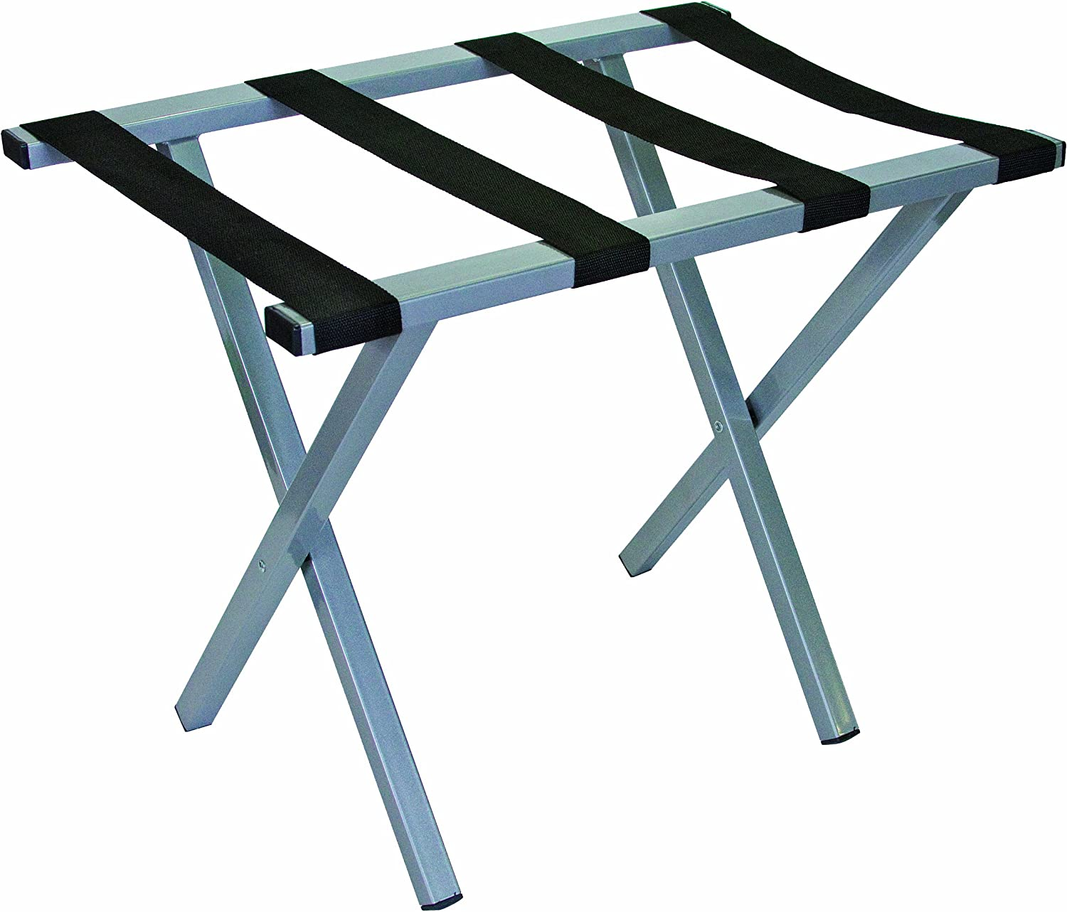 Wholesale Hotel Products Premium Metal Luggage Rack - Square Tube (Silver)