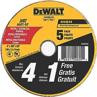 DEWALT Cutting Wheel, All Purpose, 4-Inch (DW8061B5)