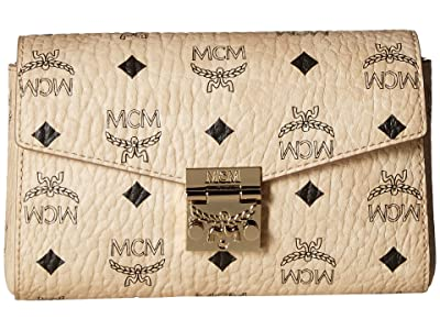 MCM Patricia Visetos Belt Bag Small (Beige) Handbags