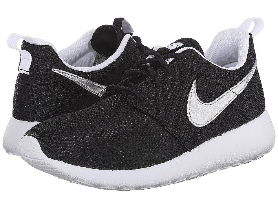 Nike Kids Roshe One (Big Kid) (Black/White/White/Metallic Silver) Kids Shoes
