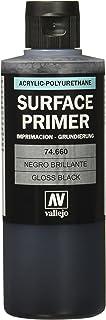 Acrylicos Vallejo 200ml Enduit de polyuréthane–Noir brillant