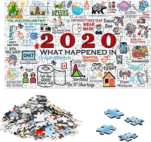 lowest OPTIMISTIC Puzzle 1000 Pieces Christmas popular Jigsaw Puzzles 2020 Quarantine Puzzle Paper Puzzle Pieces Stress Relief Educational Toy for Kids with Packing Box Gift for New Year 1.5mm discount in Thick (N1) online sale