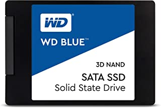 "Western Digital WDS500G2B0A 2.5"" 500GB SSD Blue SATA3 6Gbs, 3D NAND, Read 560MB/s, Write 530MB/s, 179K IOPS, 5 Years Warranty"