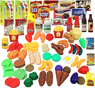 Click N' Play Pretend Play Food Set For Kids 120 Piece