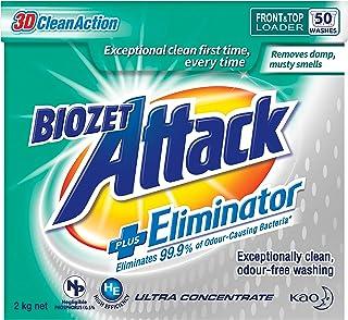 Biozet Attack Plus Eliminator Laundry Powder Detergent, 2 kilograms