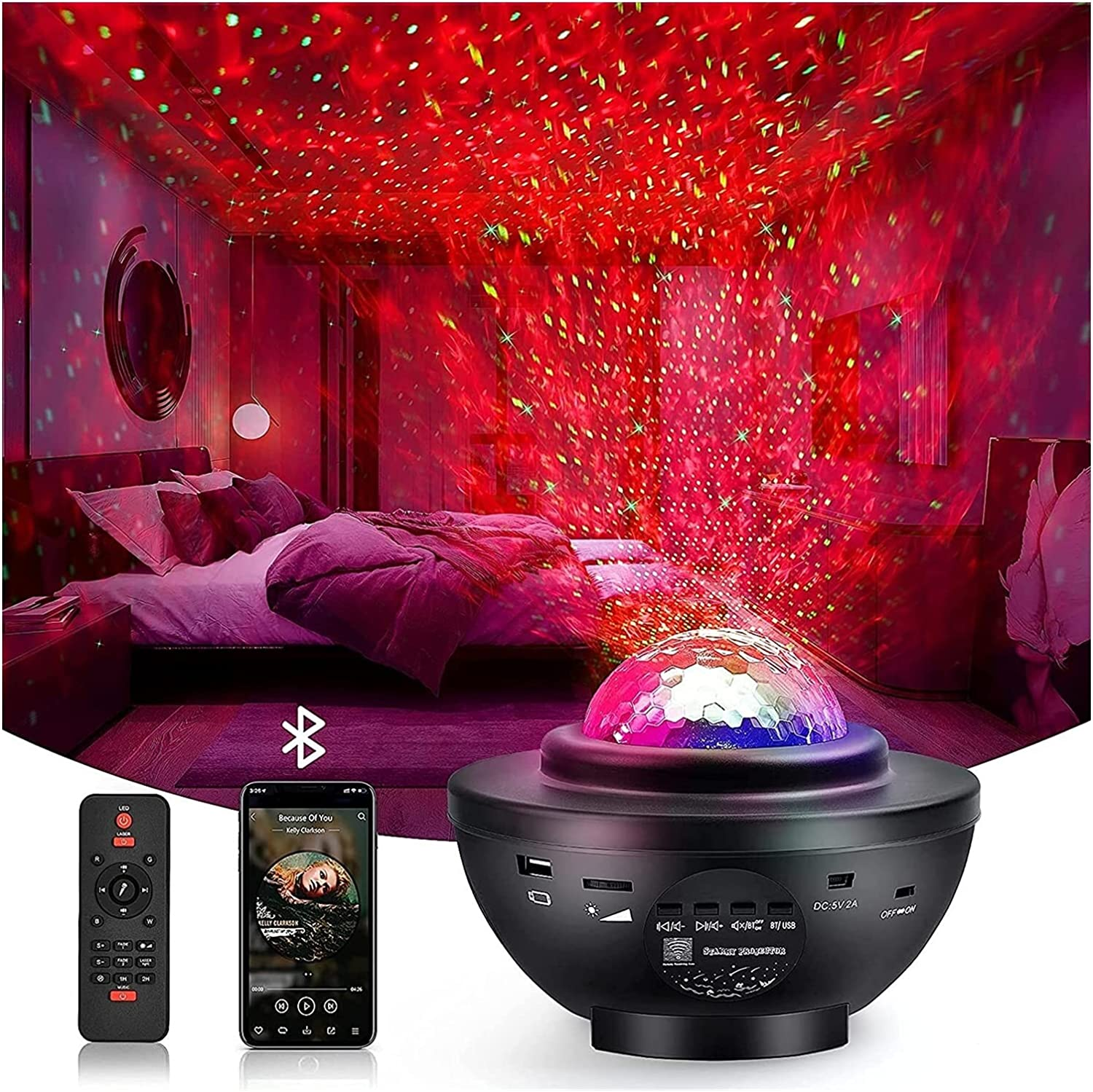 Lovedfgh Outlet SALE Star Projector Nig Super beauty product restock quality top Galaxy LED