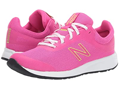 New Balance Kids 455v2 (Little Kid/Big Kid) (Peony/Bleached Lime Glo) Girls Shoes