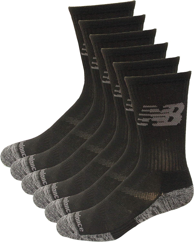 New Balance Performance Cushion Crew Socks, 6 Pair