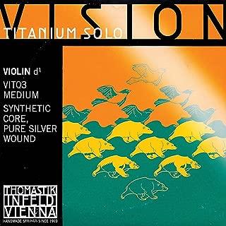 Thomastik Vision Titanium Solo 4/4 Violin D String - Medium - Silver/Synthetic
