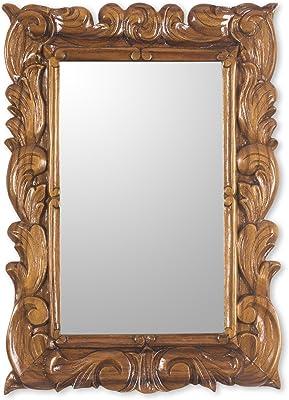 NOVICA Natural Grace Mirror