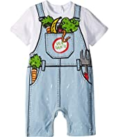 Stella McCartney Kids - Veggie Gang Short Sleeve All-In-One (Infant)