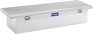 UWS EC10451 69-Inch Heavy-Wall Aluminum Angled black Truck Tool Box with Low Profile, RigidCore Lid