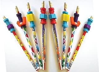 Finger Fidget Pencils with Fidget Toppers -Set of 8 Pencils with Fidgets - Pencil Fidgets from Express Pencils™