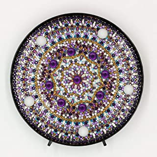 Diamond Painting Kits LED Light Mandala 5D Full Drill by Number Kits, Embroidery Craft for Home Decoration or Gifts-5.91in X 5.91in(Mandala-F)
