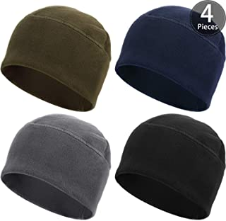 SATINIOR 4 Pieces Fleece Watch Cap Skull Beanie Cap Winter Hat for Daily and Sports