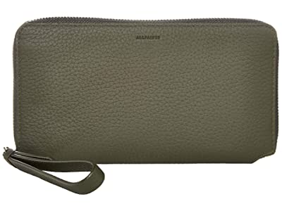 AllSaints Fetch Phone Wristlet (Khaki Green) Wristlet Handbags