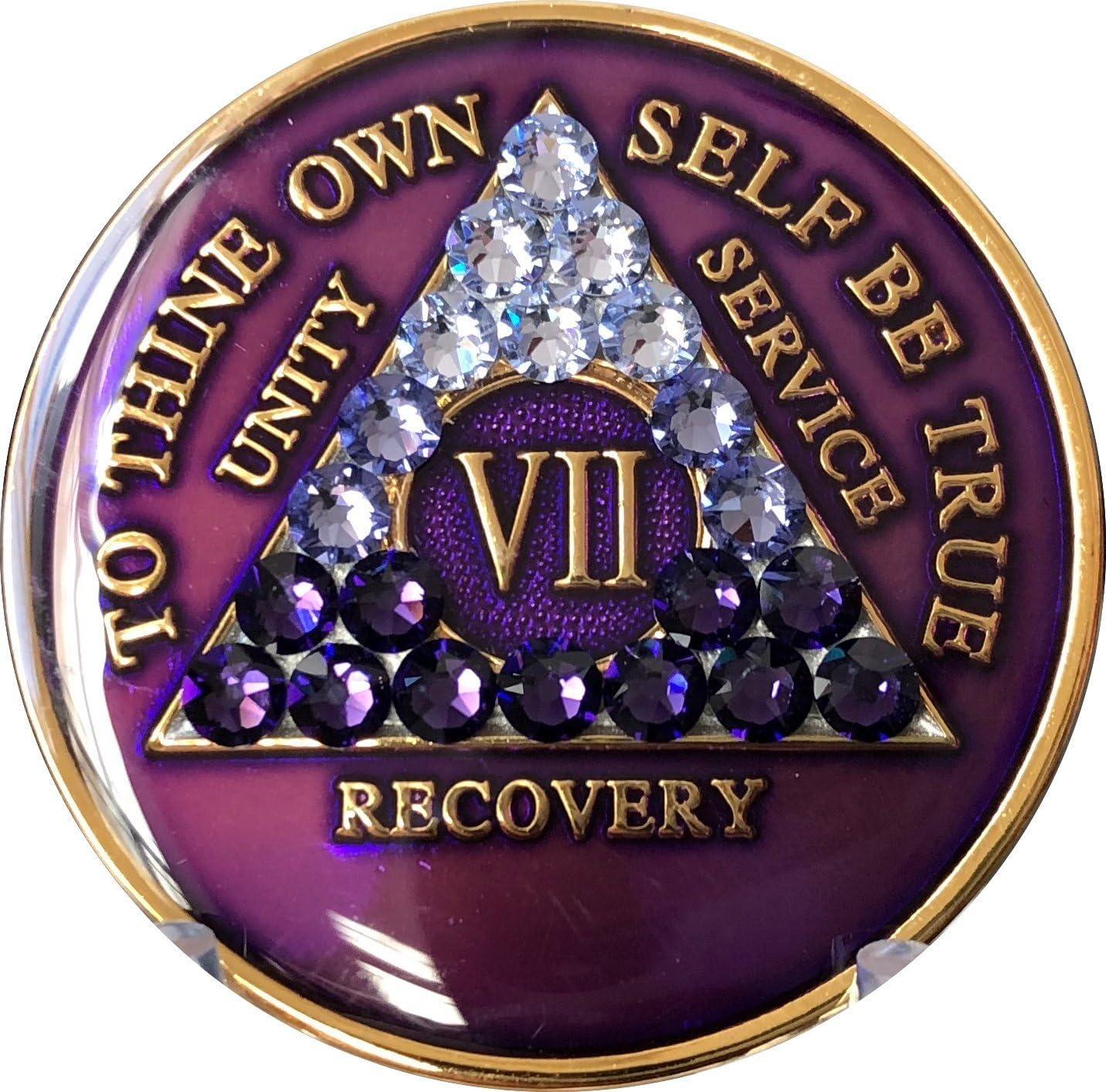 7 Year AA Medallion Purple Crysta Transition Tri-Plate Ranking Bombing free shipping TOP10 Swarovski