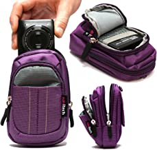 Navitech Purple Digital Camera Case Bag Compatible with The Polaroid iS827