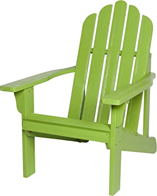 Shine Company 4628LG Marina II Hydro-TEX Finish, Lime Green Wooden Adirondack Chair