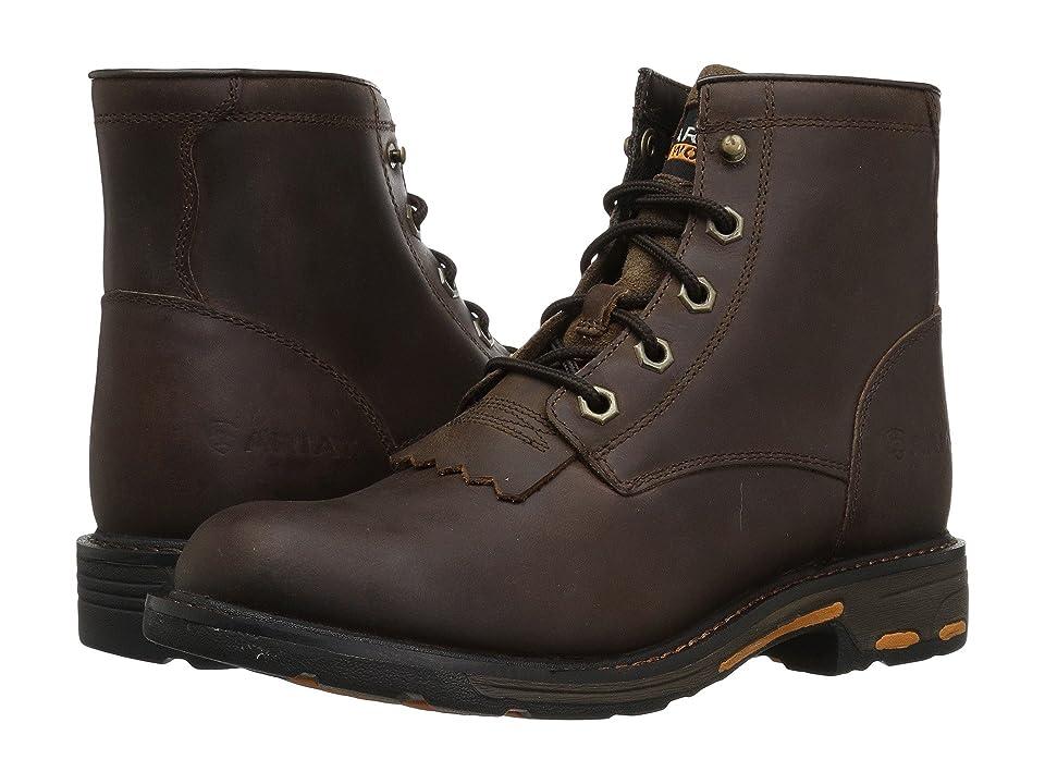 Ariat Kids Workhog Lacer Boot (Little Kid/Big Kid) (Lacer Brown) Cowboy Boots