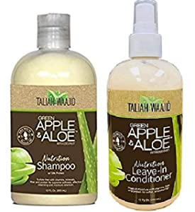 Taliah Waajid Green Apple & Aloe With Coconut Combo (LVIN-COND&SHAMP)