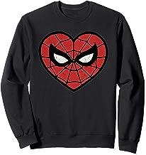 Marvel Spider-Man Valentine's Web Face Heart Logo Sweatshirt