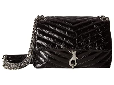 Rebecca Minkoff Edie Crossbody (Black 1) Cross Body Handbags