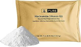 Pure Niacinamide (Vitamin B3) (4 oz) 100% Pure, Vegan & Gluten-Free, Flush-Free, Eco-Friendly Packaging
