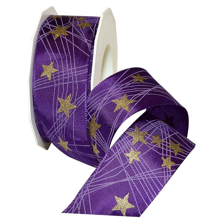 Morex Ribbon Stars French Wired Acetate Ribbon, 1-1/2