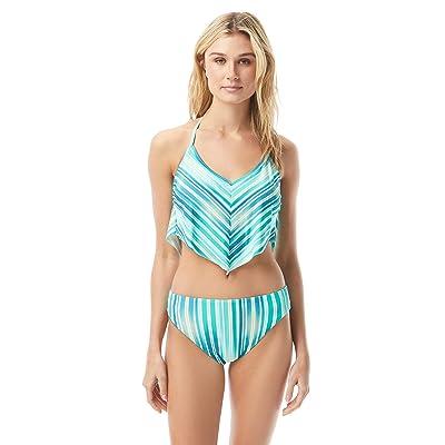 Vince Camuto Mediterranean Sea Stripe Scarf Bikini Top (Azure) Women