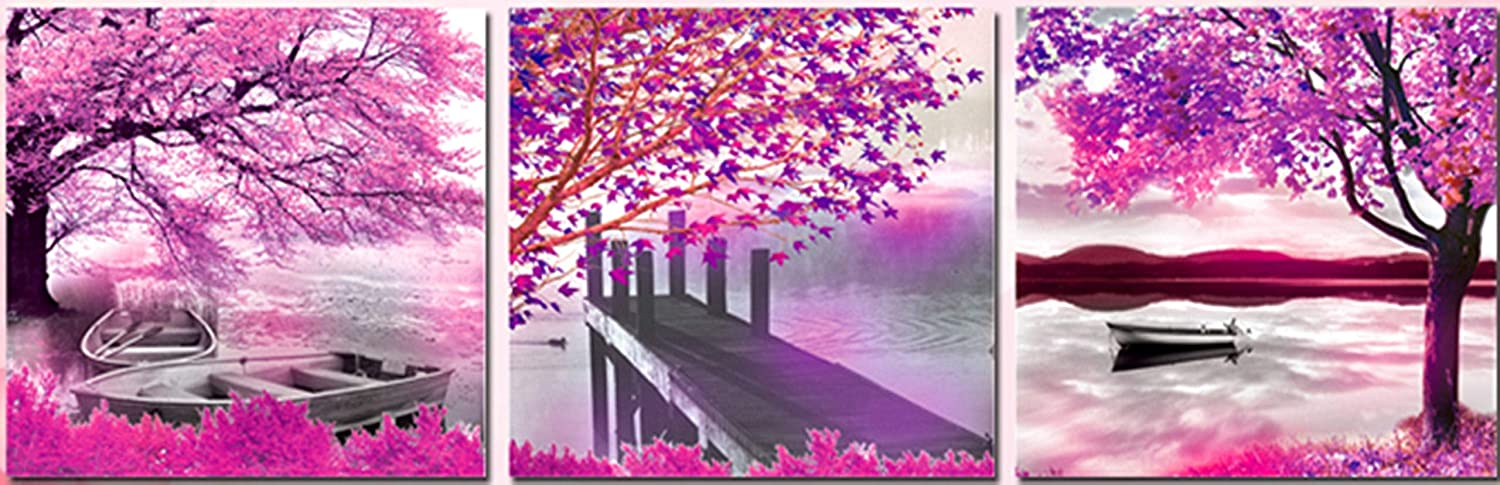 DIY 5D Diamond Painting landscapePictures KitPurple It is very popular Full Sale Special Price Mosaics