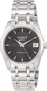 Tissot Couturier Powermatic 80 Womens Automatic Watch - Analog Grey Face with Second Hand Date Sapphire Crystal 80 Hour Po...