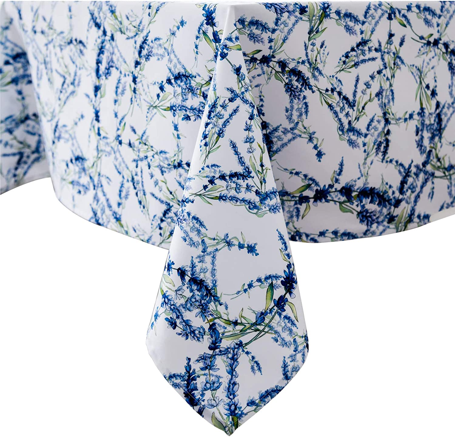 Rectangle Blue and Green Sale SALE% online shop OFF Floral Flower Printed Tablecloth Polyes
