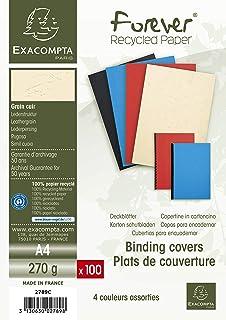Exacompta Forever Pack de 100 couvertures pour A4 270 g/m² Couleurs Assorties