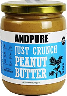 ANDPURE® | JUST CRUNCH PEANUT BUTTER | UNSWEETENED | ALL NATURAL | MAX PROTEIN | NO ADDED SUGAR | VEGAN (510g)