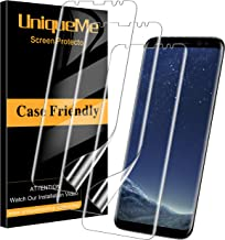[3 Pack] UniqueMe Screen Protector for Samsung Galaxy S8, [Anhydrous adsorption] [Flexible Film] HD TPU Clear Anti-Scratch Film with Lifetime Replacement Warranty