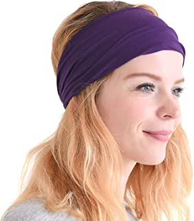 CHARM Casualbox | Sports Headband Elastic Turban Hairband Mens Womens Hair Band Yoga Headband
