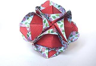 origami Clover Kusudama, 12 moduli rossa