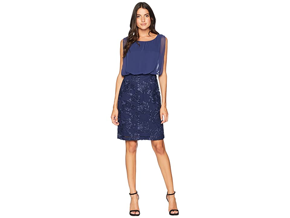 Calvin Klein Embroidered Bottom Twofer Dress CD8BL7KT (Indigo) Women